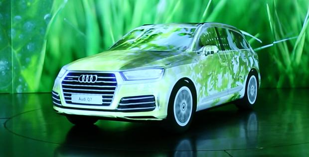 Der neue, automobile Freiraum des Audi Q7 sollte mit allen Sinnen erlebbar werden. Eine entsprechende Wirkung entfaltete die Produktschau, die mit 3DEXCITE umgesetzt wurde, beim Launch des Fahrzeugs. Bis heute nahmen bei etwa 100 Veranstaltungen weltweit rund 10.000 Menschen an dieser Produktvorstellung teil.
